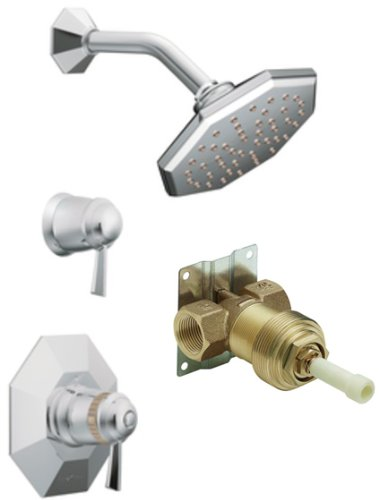 Moen TS3412-S3600 Felicity ExactTemp Shower Trim Kit with Valve, Chrome (Exacttemp Moen Shower Felicity)
