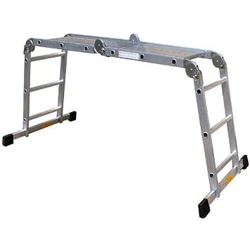 Pro Bau Tec Aluminium Vielzweckleiter 4 X 3 Sprossen Mit Plattform 10025