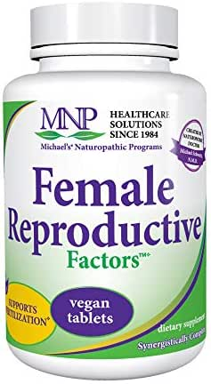 Michael's Naturopathic Programs Female Reproductive Factors - 120 Vegan Tablets - Nutrients to Support Healthy Contraception & Pregnancy - Vegetarian, Gluten Free, Kosher - 40 Servings