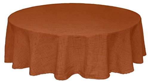 "Bardwil Linens Brussels 60""x84"" Oval Tablecloth, Spice"