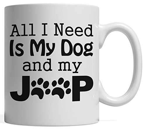 Jeep and Dog Lovers Pet Gift Mug | Outdoor Life 4x4 Driving Gift - Overlanding, Rock crawling & Mud Slinging
