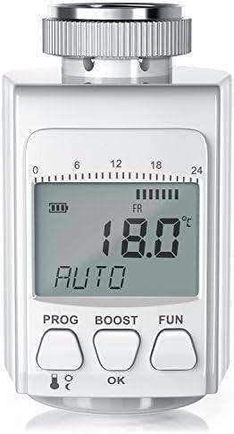 CSL - digitales Heizkörperthermostat - bis zu 30% Heizkosten Ersparnis - Radiator Thermostat Regler - intelligenter Eco Boost-Modus