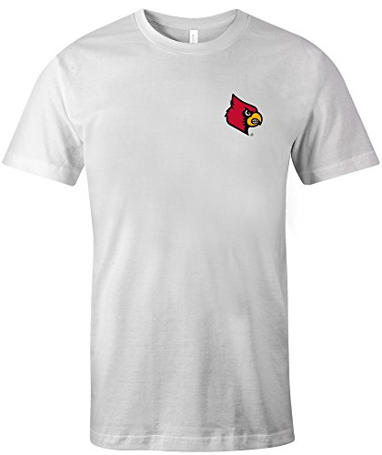 NCAA Louisville Cardinals Adult US Flag State Jersey Short sleeve T-Shirt, X-Large,White