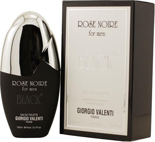 Eau Giorgio Natural De Toilette Spray (Rose Noire Black by Giorgio Valenti For Men. Eau De Toilette Spray 3.3-Ounces)