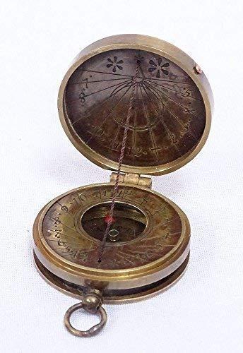 Bolsillo Reloj De Sol Brújula, Sonnenuhr- Brújula Stanley London, Latón Antiguo: Amazon.es: Hogar