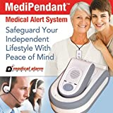MedipendantTM Medical Alert System 6 Months of Medical Alarm Monitoring Service and Voice Speakerphone Pendant