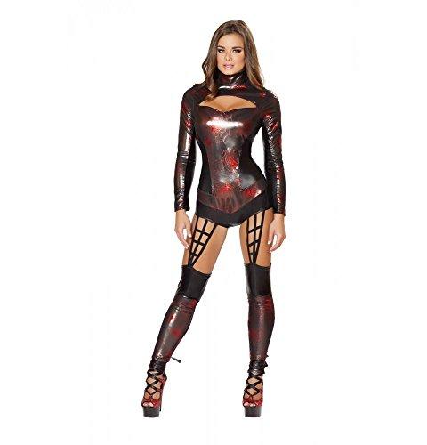 Roma Costume Women's 1 piece Web Spinner, Black, (Web Spinner Spider Costume)