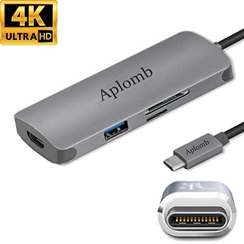 USB C Hub HDMI 4K,7-in-1 Type-C Hub,with Power Pass Through,4K HDMI Output,TF SD Card reader,3 USB 3.0 Ports,Aplomb type c Splitter Adapter ,compatible with Mac Macbook Pro 2016/2017/2018