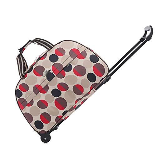 Trolley bag, Suitcase, Waterproof Storage Bag, Handbag, Mute Wheel, Large Capacity - Oxford Tarpaulin, Unisex, Can Board @Greawei (Color : D, Size : 45L)
