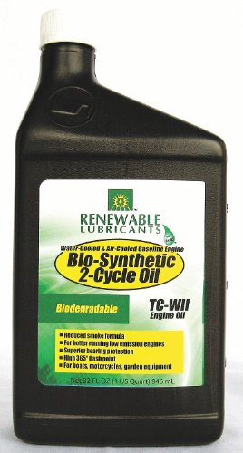 Renewable Lubricants Bio-SynXtra TC-W 2 Cycle Engine Oil,...