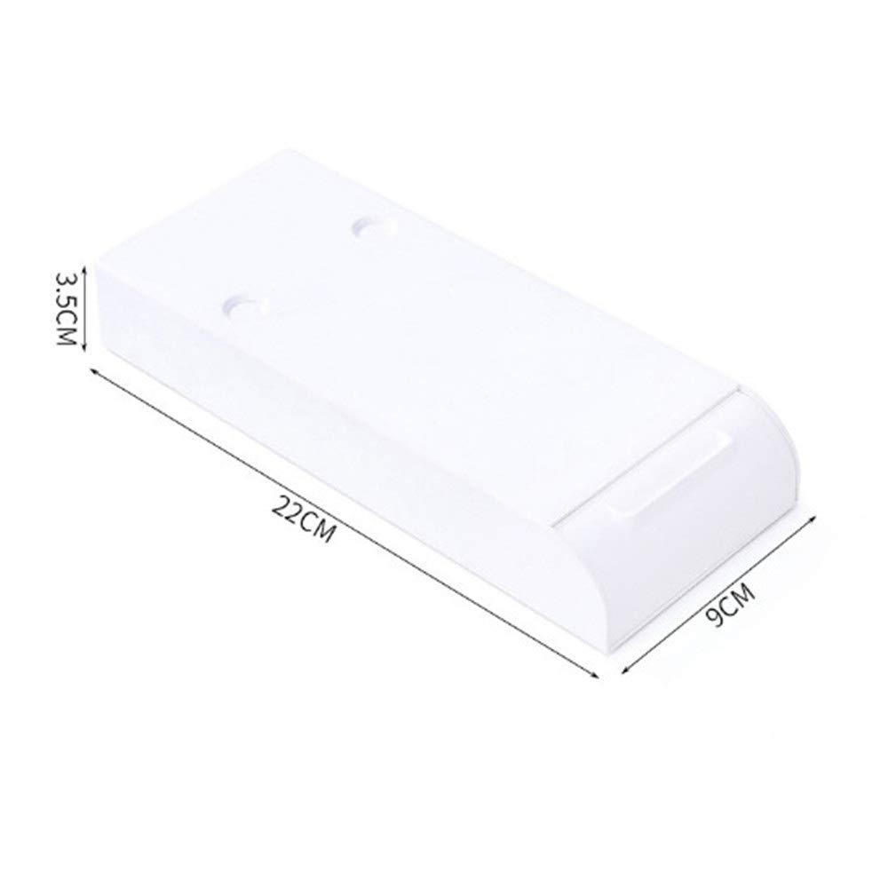 Caja de Almacenamiento Invisible autoadhesiva AAAAAA Perforadora Libre Debajo del caj/ón de la Mesa 1PC,Blanco organizadores emergentes de pl/ástico para Almacenamiento de papeler/ía de Oficina