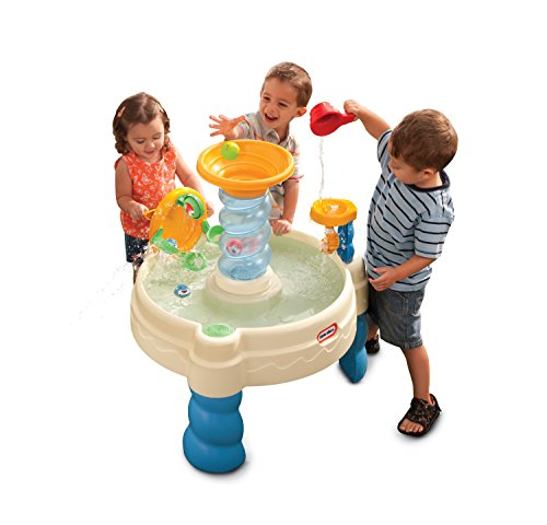 A water table is a fun backyard water toy for toddlers