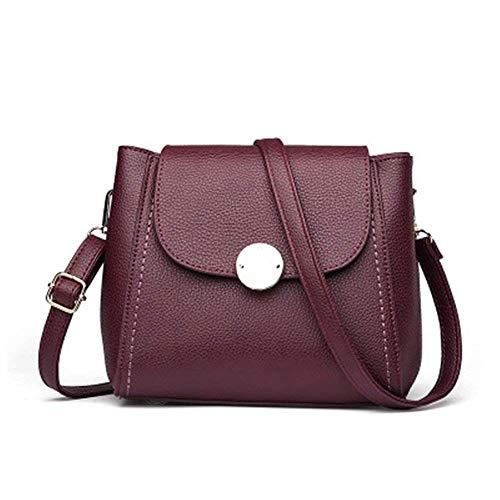 Bolsa La Diagonal Rojo Tamaño Las Señoras Multiusos De Hombro Eeayyygch Paquete Rojo Compartimiento color Púrpura qgAwZ
