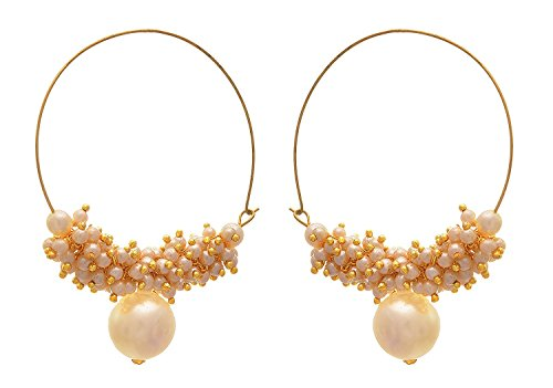 BFC  Stylish Pearls Designer Bali Earring for Women  amp; Girls. white Pearl