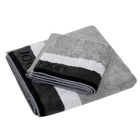 Las toallas de rizo con diseño de rayas de colour gris claro y gris oscuro Elegance, gris, 50 x 100 cm: Amazon.es: Hogar