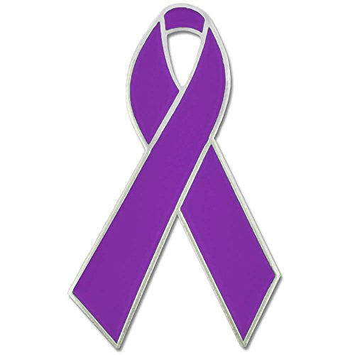 PinMart Purple Domestic Violence Awareness Ribbon Enamel Lapel Pin ()