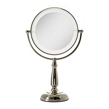 Zadro Lighted Makeup Mirror.Zadro Ultra Bright Dual Sided Led Lighted Vanity Make Up Mirror With 1x 10x Magnification In Polished Nickel Finish