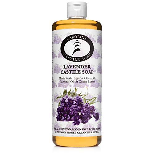 Carolina Castile Soap Lavender w/Kukui Nut Oil & Organic Cocoa Butter - 32 oz