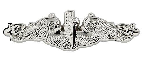 Navy Silver Dolphin Insignia Tie Clip -