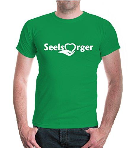 T-Shirt Seelsorger-L-Kellygreen-White