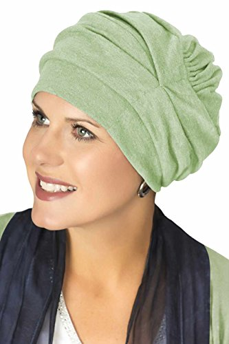 Headcovers Unlimited Trinity Turban-Caps for Women with Chemo Cancer Hair Loss Spring Green