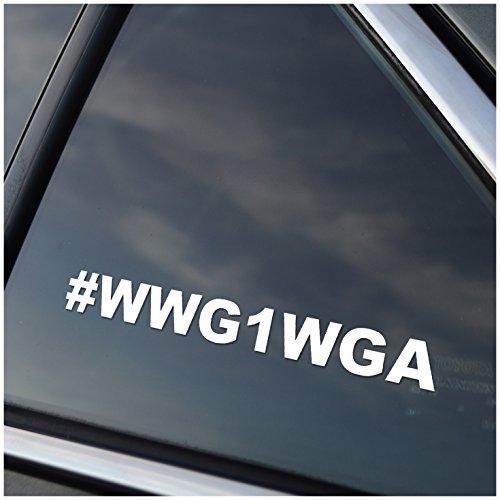 - WWG1WGA Vinyl Car Window Decal Sticker White