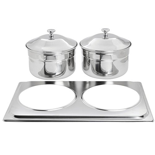 (HUBERT Chafer Adapter Plate and Soup Buckets Stainless Steel - 21