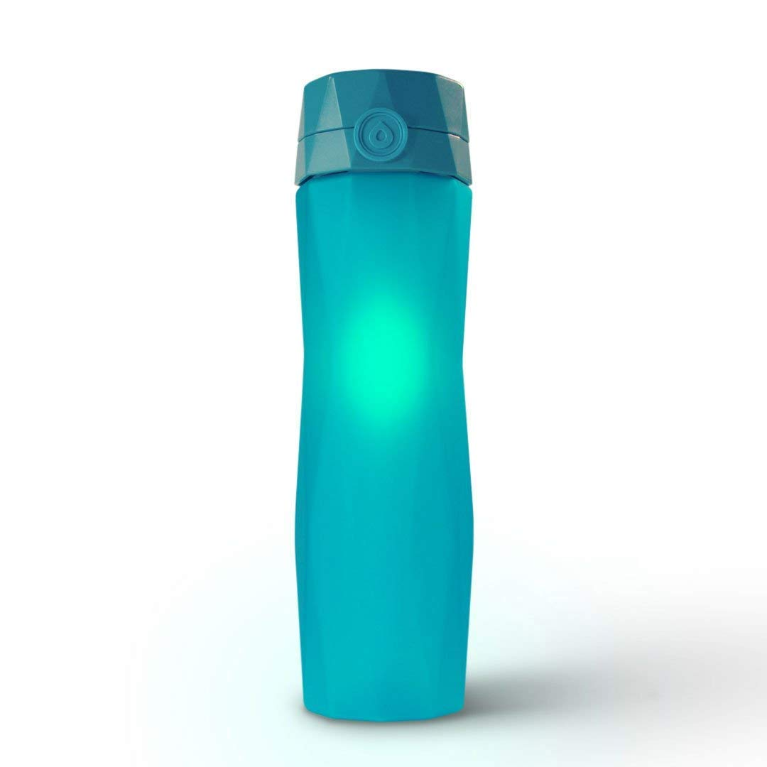 6fa684a4f5 Amazon.com: Hidrate Spark 2.0 Smart Water Bottle (Teal) - Tracks Water  Intake & Glows to Remind You to Stay Hydrated: Health & Personal Care