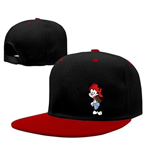 animaniacs-unisex-100-cotton-red-adjustable-snapback-baseball-caps-one-size