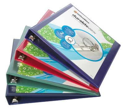 Office Depot Nonstick Round-Ring View Binder, 1in. Rings, 100% Recycled, Black, OD02978 ()