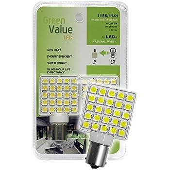 Amazon Com 1 2 Pk 1156 1141 Base Led Replacement Bulb