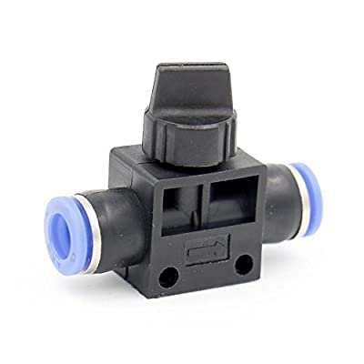 Baomain 6mm Push in Air Tube Pneumatic speed controller speed control valve by Baomain