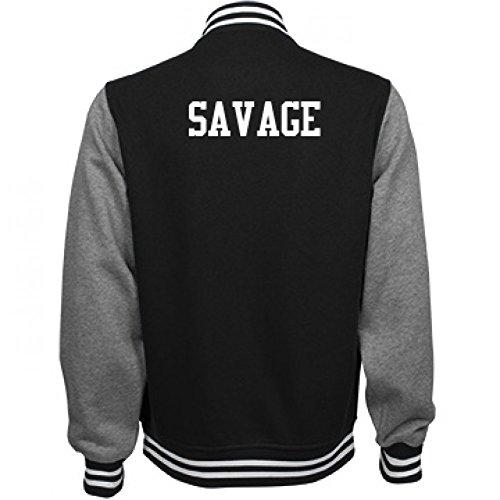 Savage Comfy Sports Fan Gear: Unisex Fleece Letterman - Varsity Jacket Soccer