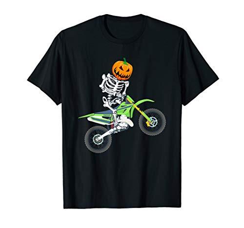 Dirt Biker Halloween Costume (Skeleton Dirt Bike Halloween Pumpkin Motocross Biker)