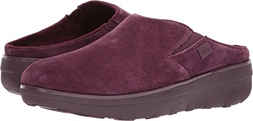FitFlop Trade; Womens Loaff&Trade; Suede Clogs Deep Plum Size (Suede Casual Clogs)