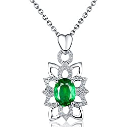 Diamond Studded Natural Green Emerald Pendant