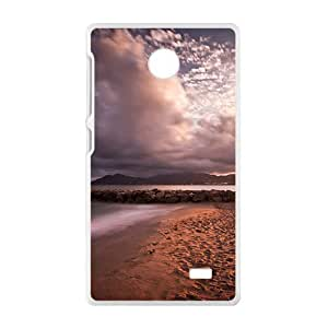 Gray Clouds Sky White Phone Case for Nokia Lumia X