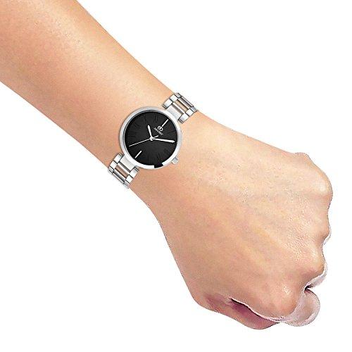 41sFC9Xb99L. SS500  - ADAMO Enchant Analog Black Dial Women's Watch - 2480SM02