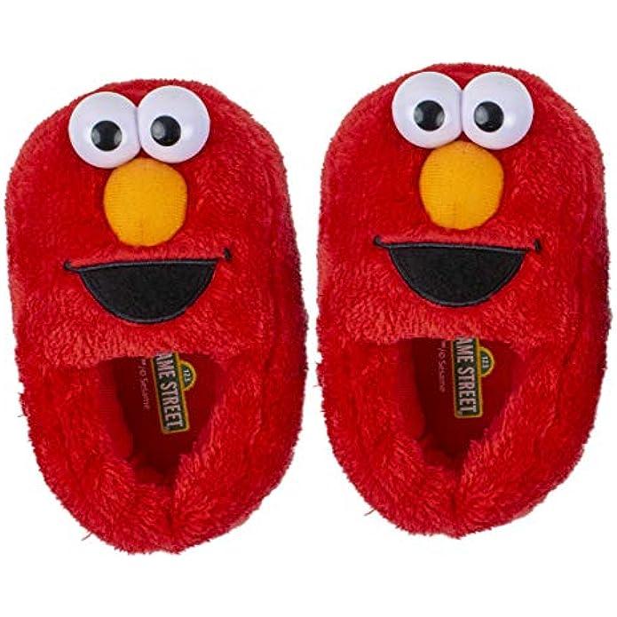 Sesame Street Elmo Cookie Monster Boys Girls Slippers (Toddler/Little Kid)