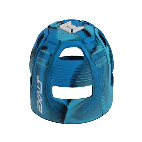 (Exalt Paintball Tank Grip - 45-88ci - Blue Swirl )