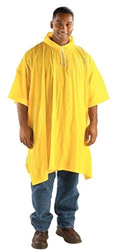 Galeton 7948-YW Repel Rainwear Lightweight PVC Rain Poncho with Drawstring Hood, One Size, Yellow