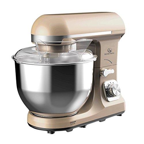Murenking Professional Stand Mixer Mk37a 500W 5 Qt Bowl 6 Speed Tilt Head Food Electric Mixer Kitchen Machine  Champagne