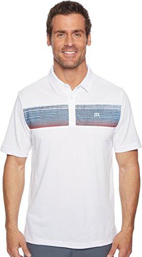 TravisMathew Men's Three Jack Polo White XX-Large (Golf Mathew Travis)
