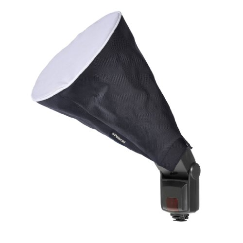 Polaroid Universal Collapsible Circular Cone (Trumpet) Studio Softbox For The Canon Digital EOS Rebel SL1 (100D), T5i (700D), T5 (1200D), T4i (650D), T3 (1100D), T3i (600D), T1i (500D), T2i (550D), XSI (450D), XS (1000D), XTI (400D), XT (350D), 1D C, 70D, by Polaroid