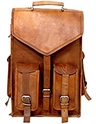 Imperial Vintage Leather Handmade Backpack 15 X 12 Laptop School Collage Bag