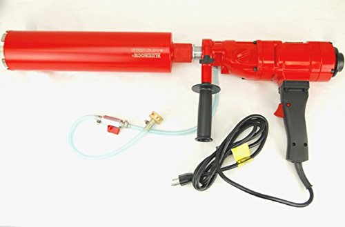 "CORE DRILL 4"" Z-1 2 SPEED CONCRETE CORING DRILL by BLUEROCK TOOLS PACKAGE DEAL COMES WITH 1"", 2"", 3"", 4"" BITS"