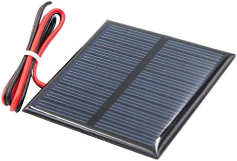 VANKOA Kleine Solarmodul Solarpanel Solarzelle Solarladegerät und mit Kabel
