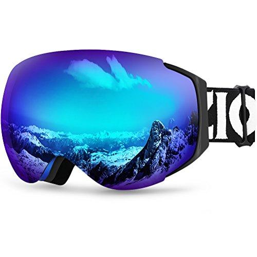 Zionor X10 Ski Snowboard Snow Goggles OTG for Men Women Youth Anti-Fog UV Protection Helmet...