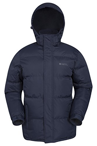 Mountain Warehouse Snow Mens Winter Jacket - Water Resistant Raincoat Navy Small