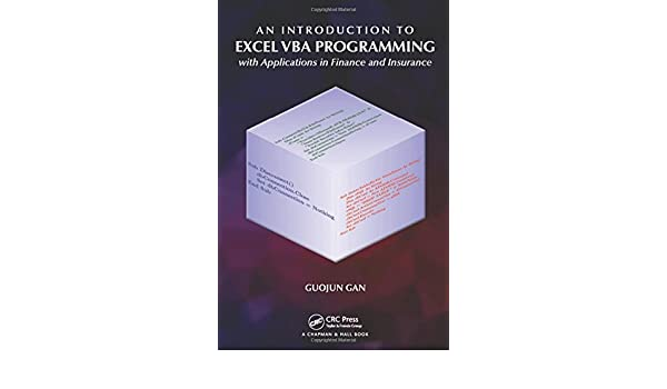 Amazon com: An Introduction to Excel VBA Programming: with